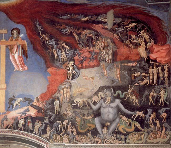 Giotto, Il Giudizio universale, particolare. Padova, cappella degli
