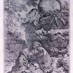 Giovan Battista Castiglione detto il Grechetto, La malinconia, acquaforte, 1645