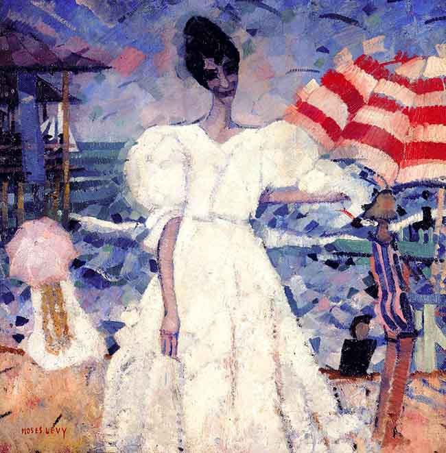 Moses Levy, Luce Marina, 1917-1918, olio su tavola, cm 69x69, collezione privata