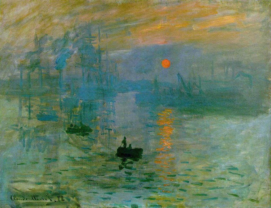 Claude Monet Impression, soleil levant, 1872, 48x63cm, Parigi, Musée Marmottan Monet