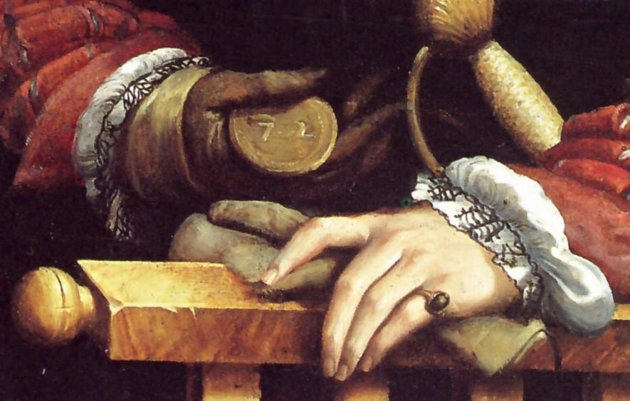 Parmigianino, Ritratto di Galeazzo Sanvitale, (particolare) 1524, olio su tavola, 109x81 cm, Napoli, Museo di Capodimonte