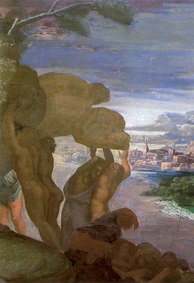 Giulio Romano, un altro particolare degli affreschi  di Palazzo Te
