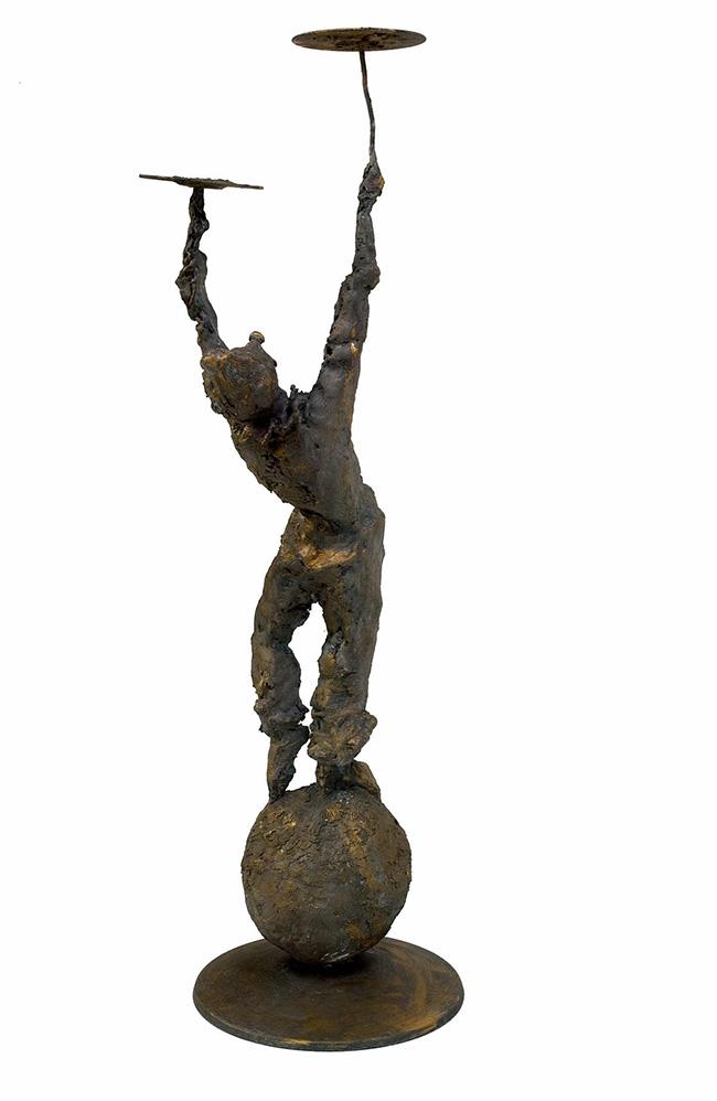 Pierfrancesco Mastroberti: Giocoliere, bronzo, h 130 cm