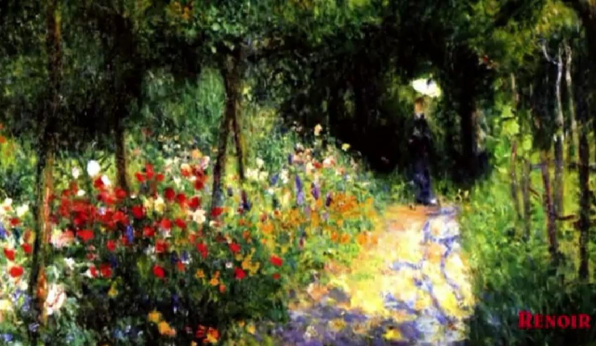 Renoir giardini e fiori in pittura uno splendido video - Giardini e fiori ...