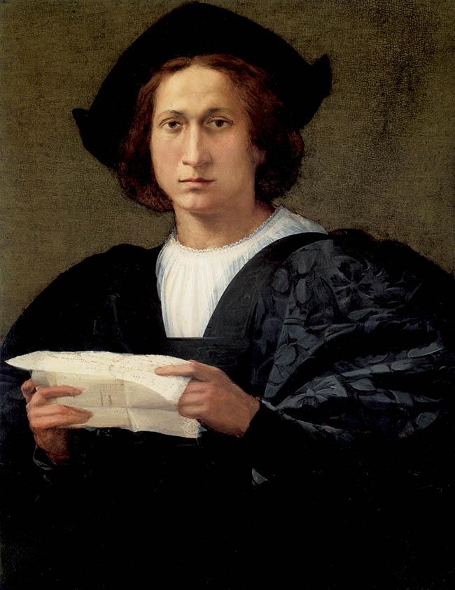 Rosso Fiorentino, Ritratto di giovane con una lettera, 1518