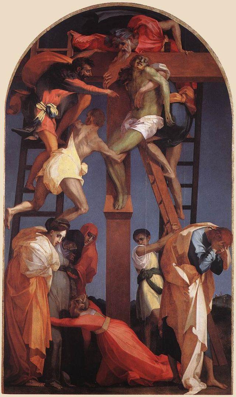 Rosso Fiorentino, Deposizione dalla croce, olio su tavola 375x196 cm. firmato e datato 1521, Pinacoteca di Volterra.