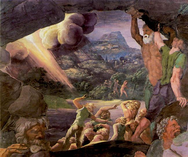 Giulio Romano, particolare degli affreschi della Sala dei Giganti. Mantova, Palazzo Te
