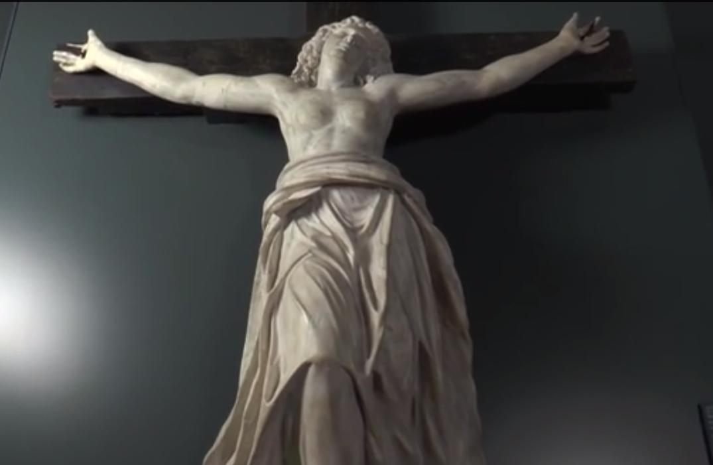 Carlo e e Giovanni (?) Carra - Santa Giulia crocifissa, marmo di Carrara, metà XVII secolo. Brescia, Museo di Santa Giulia