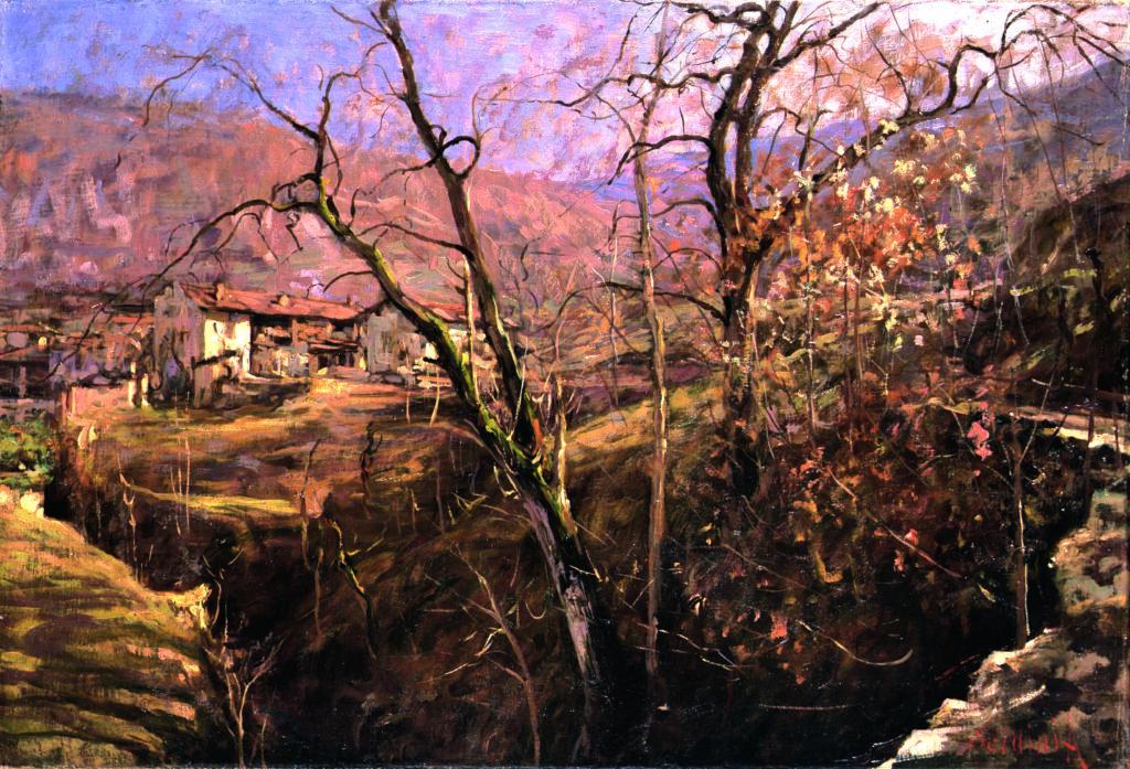 Arnaldo Soldini, Paesaggio con casa