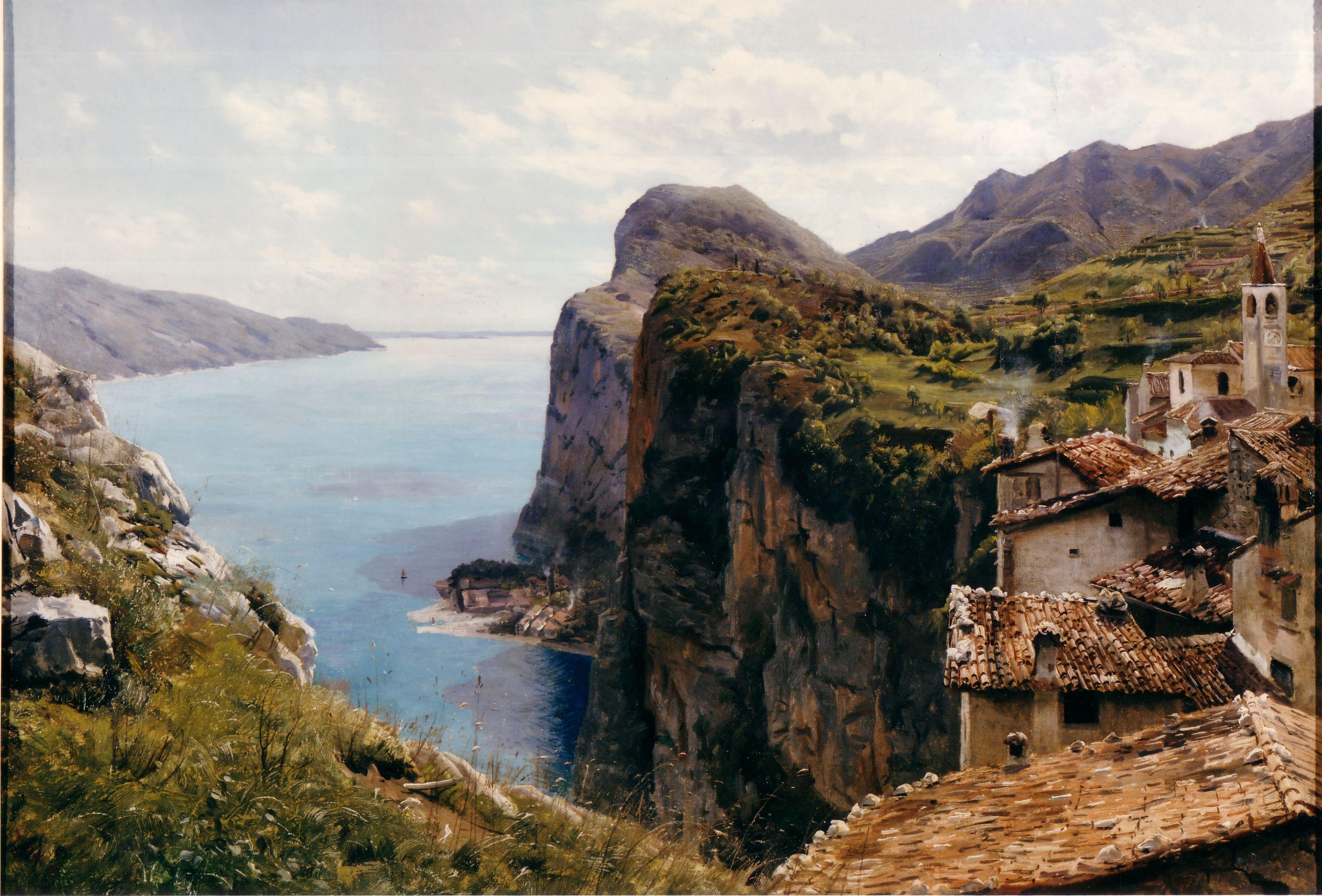 Arnaldo Soldini, Veduta del lago di Garda