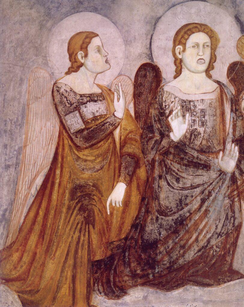Stefano fiorentino, Corteo-funebre,-particolare-di-due-angeli-posti-al-di-sopra-della-barella