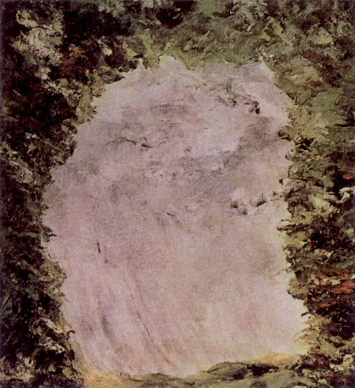 August Strindberg, Illustrazione per l'Inferno, 1901. Strindberg lavorò nell'ambito dell'arte astratta prima che essa fosse praticata e codificata. I suoi dipinti erano particolarmente materici