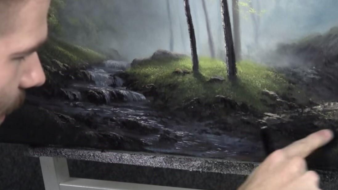 Come Dipingere Un Torrente Salti Dacqua E Cascate In Un Bosco