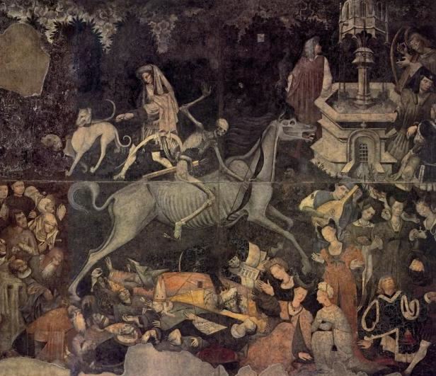 Maestro del Trionfo della Morte, 1446, affresco staccato, cm 600x642, Palermo, Galleria regionale di Palazzo Abatellis