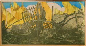 Francesco Nonni Vele romagnole, 1913-14 xilografia a colori Faenza, Pinacoteca Comunale