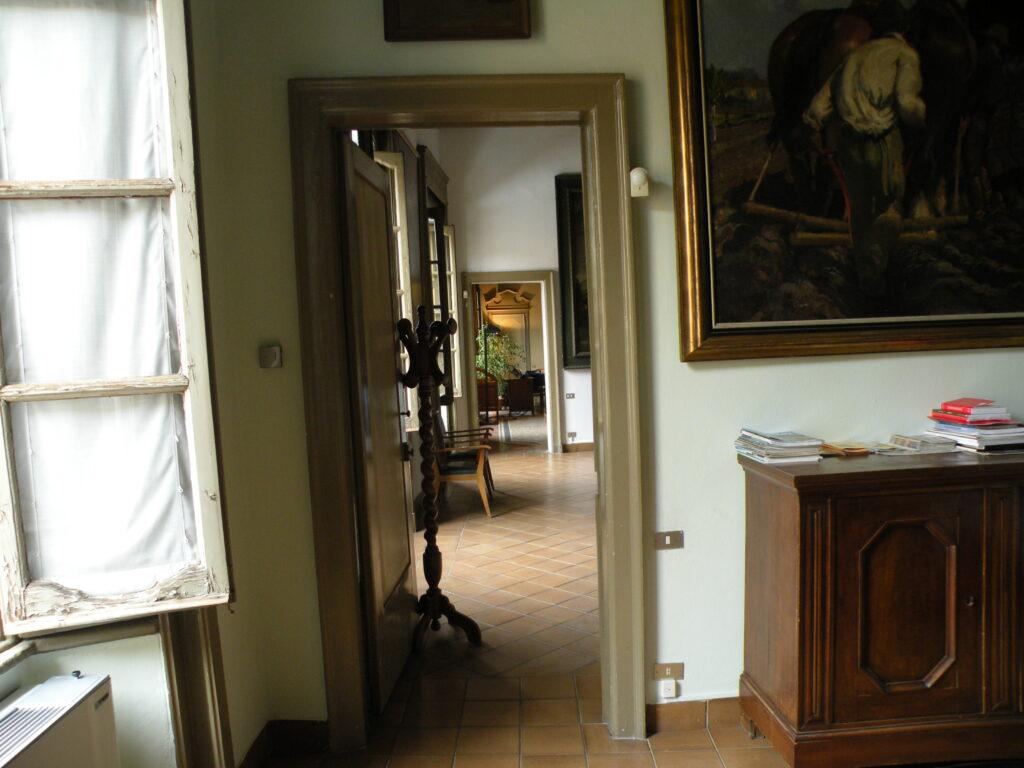 La parte del palazzo in cui abitava il nonno di Michelangelo Merisi, Gian Giacomo Aratori, agrimensore e consulente dei marchesi