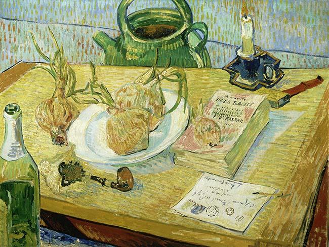 Vincent van Gogh Natura morta con cipolle Olio su tela, cm 49,6 x 64,4 1889 Kröller-Müller Museum, Otterlo © Kröller-Müller Museum, Otterlo