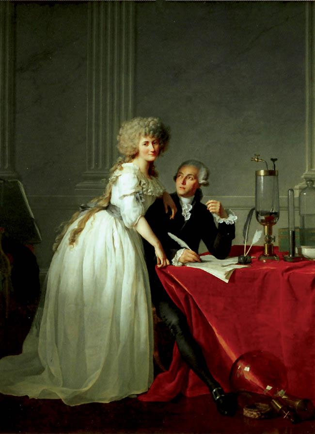 Jacques-Louis David, I coniugi Lavoisier, olio su tela,  260x195 cm, 1788
