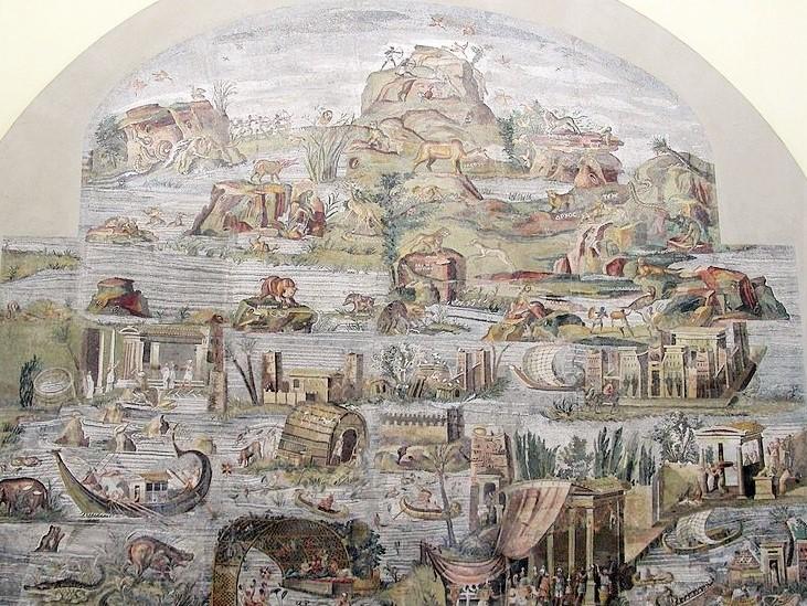 Il mosaico nilotico realizzato nel tempio della Fortuna di Preneste, l'attuale Palestrina