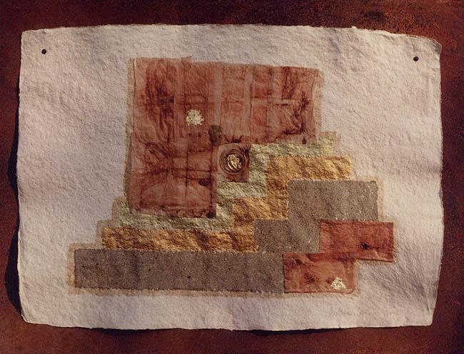 Maria Cristina Carlini Teatro 2, 2002 tecnica mista su carta lamiera, cm 70x90 Matteo Chigorno