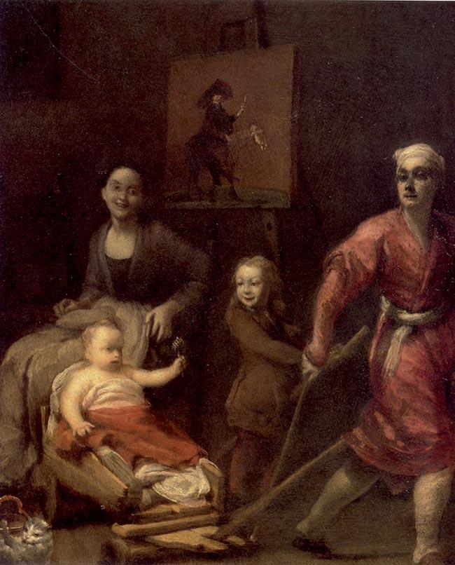 Giuseppe Maria Crespi, Autoritratto con famiglia