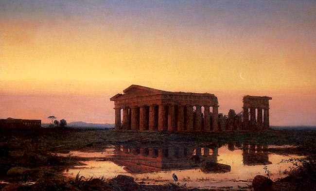 Jasper Francis Cropsey,  Il Tempio di Nettuno a Paestum