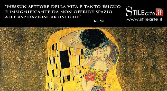 Frasi Di Klimt Sulla Vita.Aforismi Klimt Nessun Settore Della Vita E Tanto Esiguo E Insignificante Da Non Offrire Spazio Alle Aspirazioni Artistiche Stile Arte