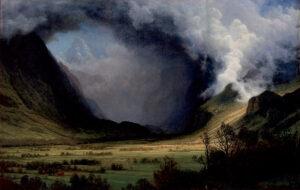 Albert Bierstadt, Tempesta tra le montagne