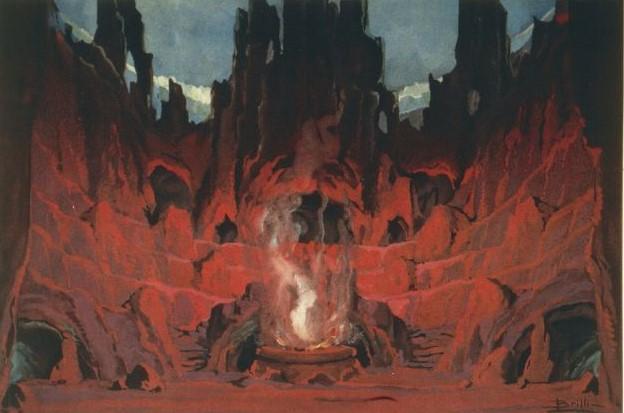 Luigi Brilli, Scenografia per il Mefistofele di Arrigo Boito, 1868
