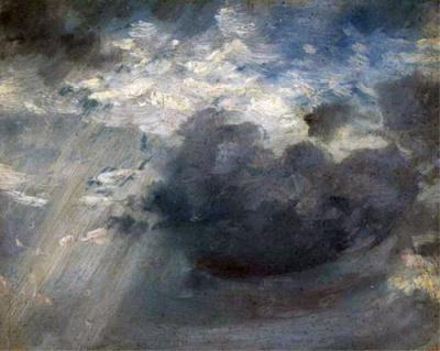 Uno dei numerosi studi di Constable dedicati alle nuvole. Esse hanno una funzione di straordinaria eloquenza . Divengono manifestazione del Dio-Natura