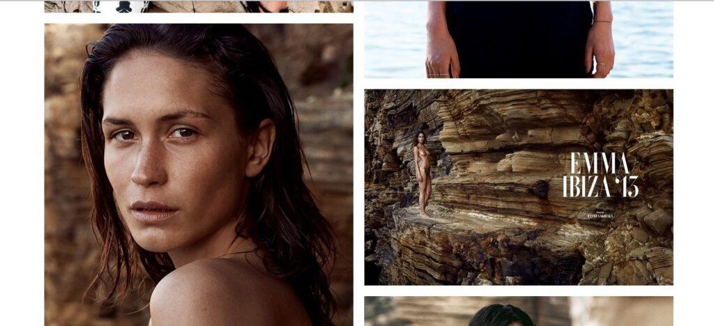 Uno scatto del book di Emma che lavora per l'agenzia danese Unique models