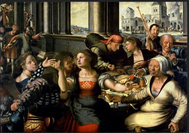 Jan Sanders van Hemessen, Il Figliol prodigo, 1536