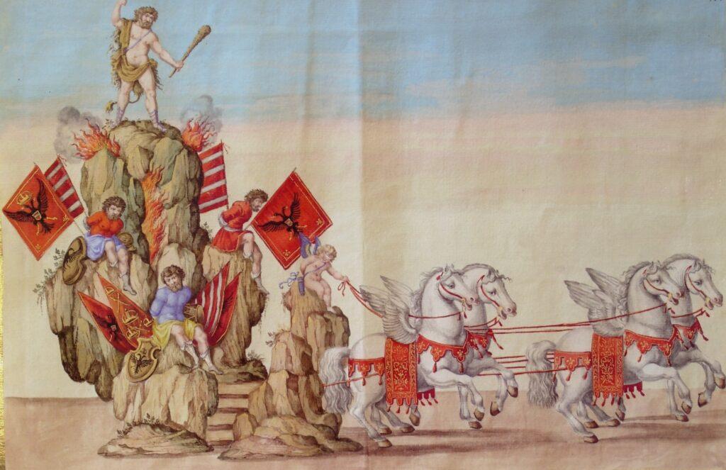 Giovanni Tommaso Borgonio, Ercole Celtico su carro trionfale per Hercole domatore de Mostri et Amore domatore degli Hercoli