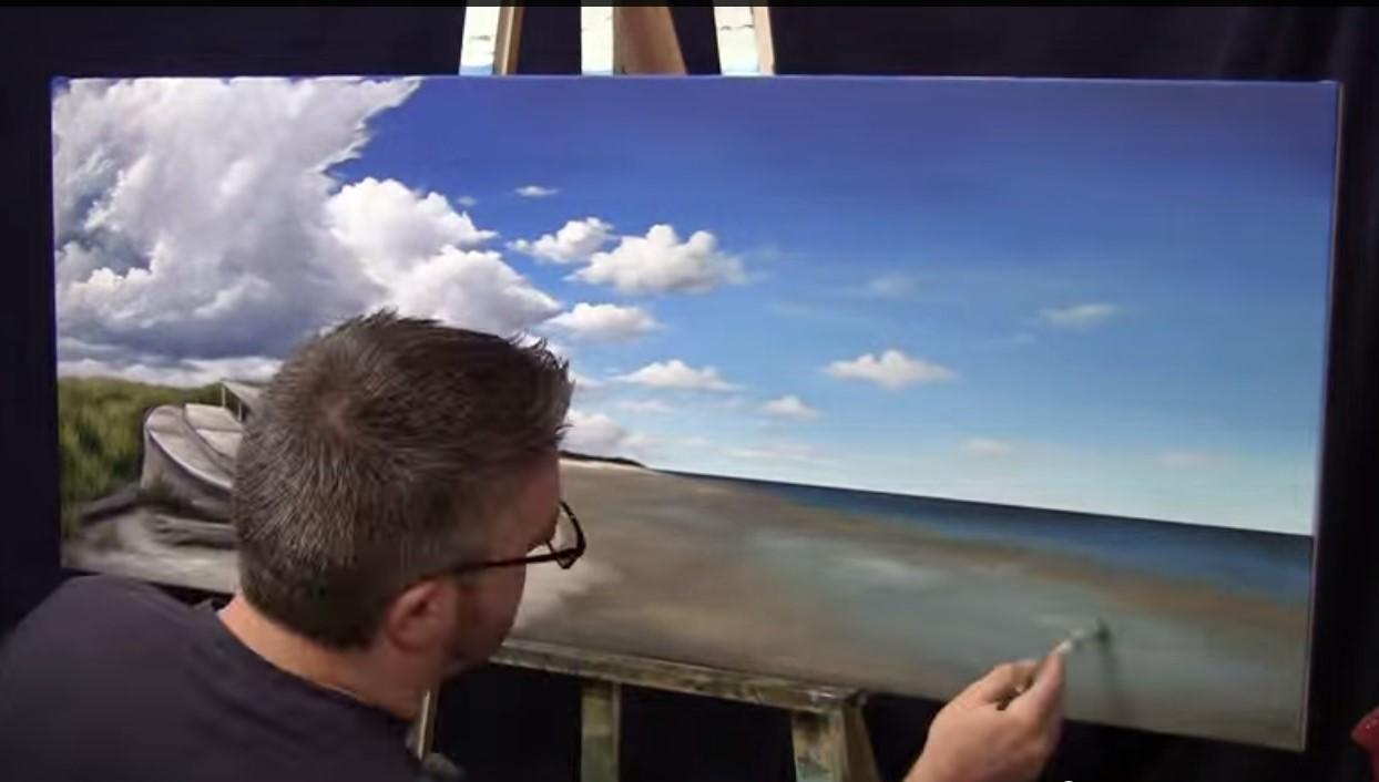 Dipingere l\'acqua e il mare - Acqua e nuvole, video tutorial ...