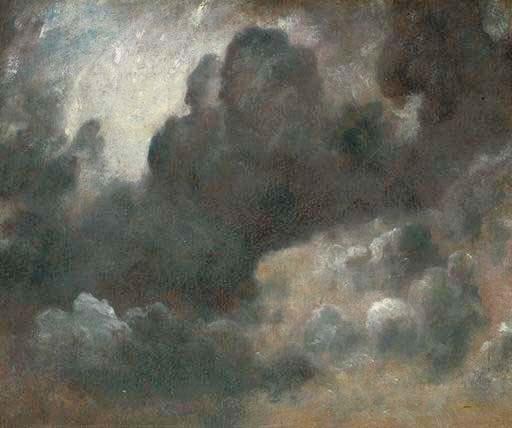 Uno studio di nuvole, di Constable, dipinto nel 1822