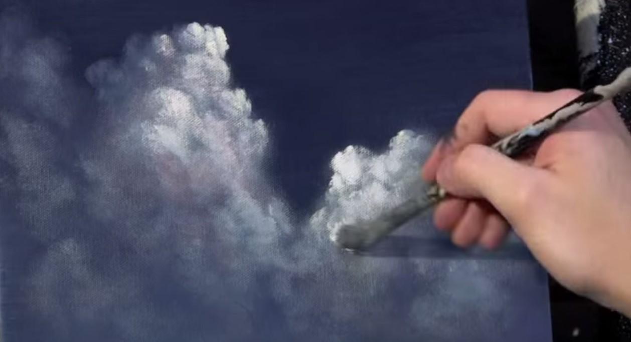 Dipingere il cielo e le nubi nuvole sereno notte temporale i