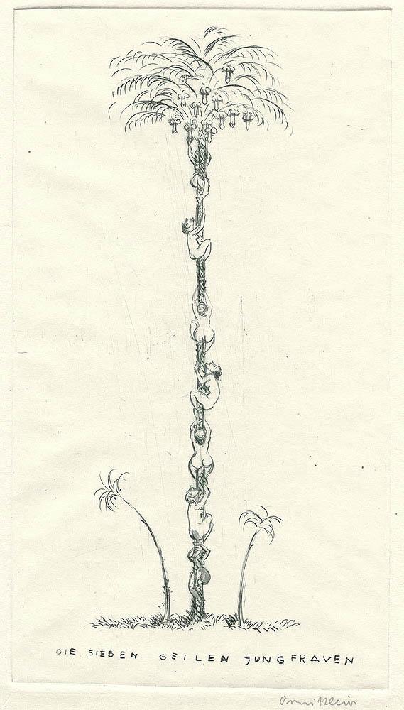 Un'interpretazione novecentesca dell'albero dei peni e dell'abbondanza. Croquis d'Ornikleios (Friedrich Wilhelm Kleukens, 1878-1956), publié dans Kythera, 1921