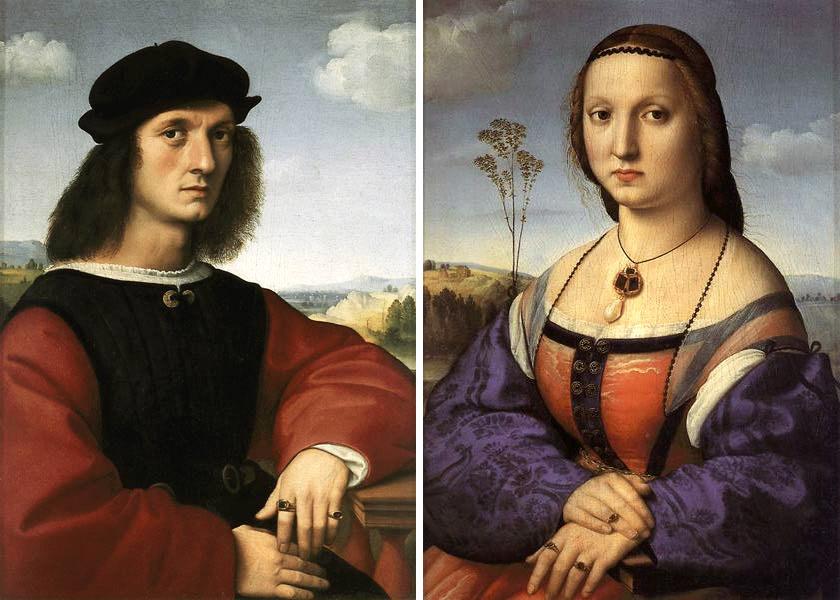 Raffaello Sanzio, Ritratti dei coniugi Doni, 1506