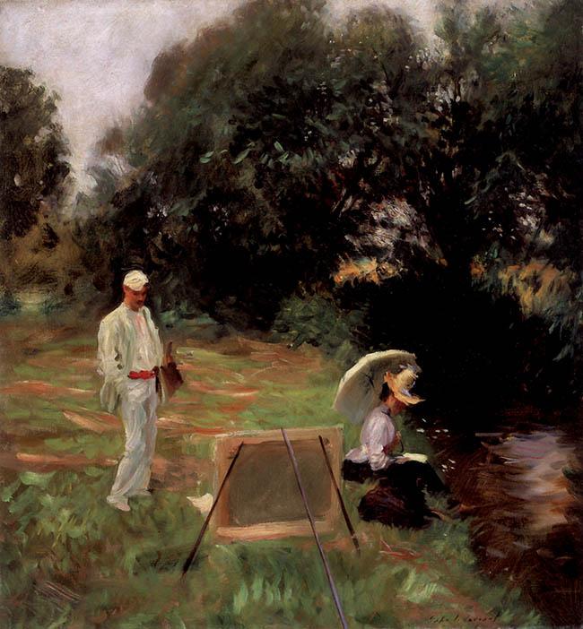 John Singer Sargent,  Dennis Miller Bunker dipinge a Calcot
