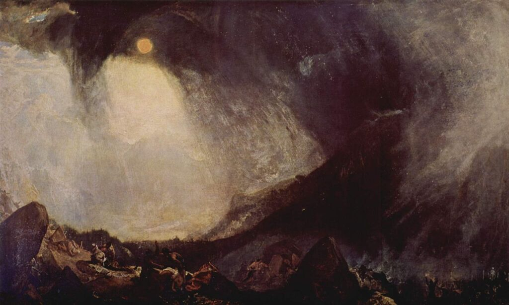 William Turner, Bufera di neve: Annibale e il suo esercito attraversano le Alpi, 1812