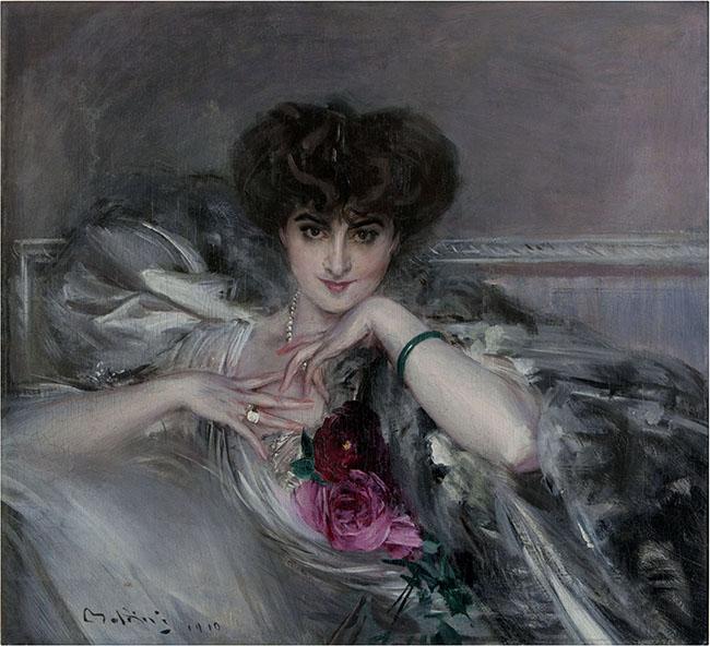 Giovanni Boldini, Ritratto della principessa Radzwill, 1910, Olio su tela, 82,5x91 cm