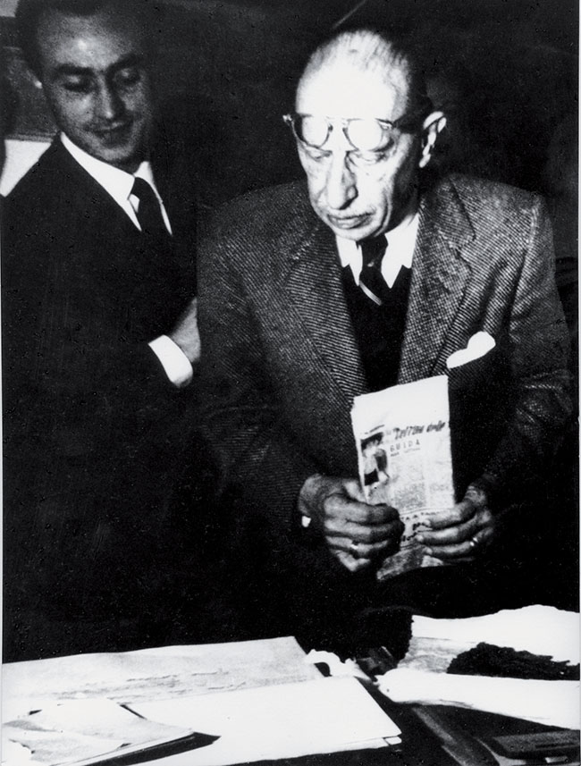 Arnaldo Pomodoro con Igor Stravinskij
