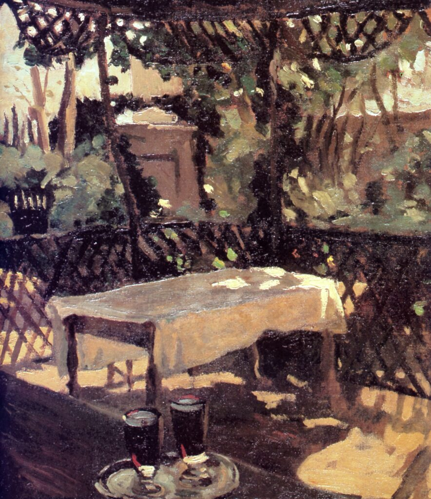 Winston Churchill, Two glasses on a verandah