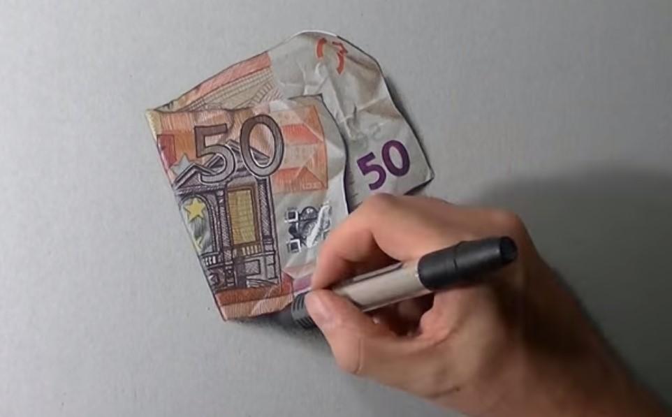 Disegnare 50 Euro Con Assoluto Realismo Stile Arte