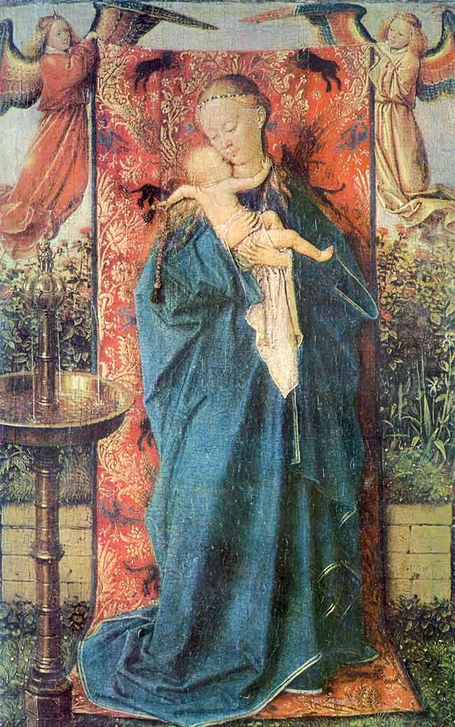 jan van eyck-la vergine della fontana