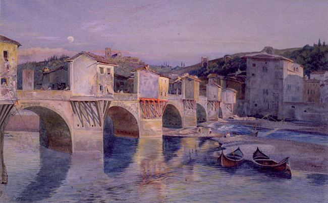 John Wharlton Bunney, Il Ponte alle Grazie a Firenze