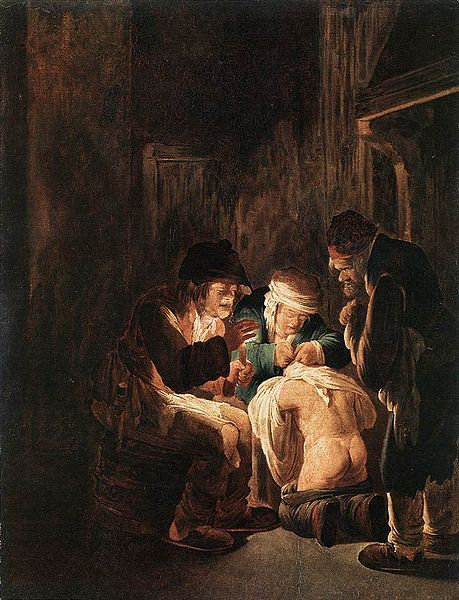pid A caccia di pidocchi a lume di candela da Andries Both. 1612-1642