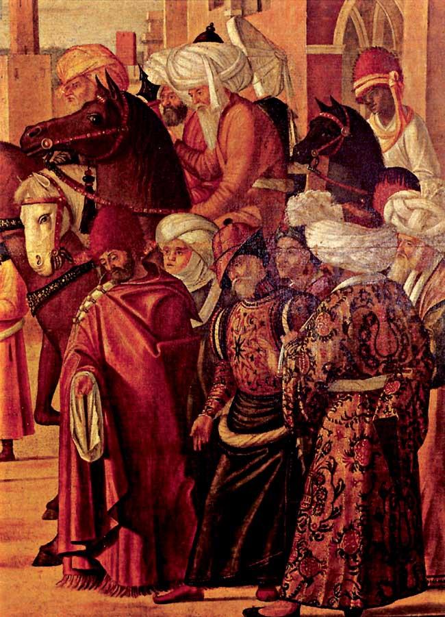 Vittore Carpaccio, San Giorgio uccide il drago (particolare)