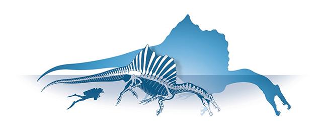 1- ricostruzione scheletrica spinosauro - foto M. Auditore & PrehistoricMinds