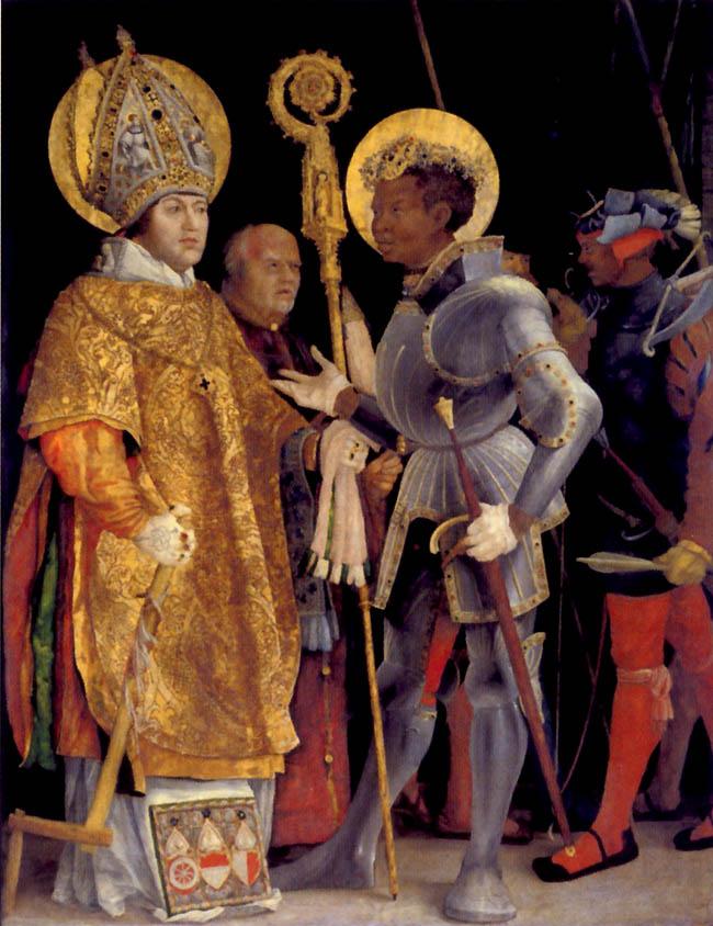Matthias Grünewald, Incontro dei santi Erasmo e Maurizio